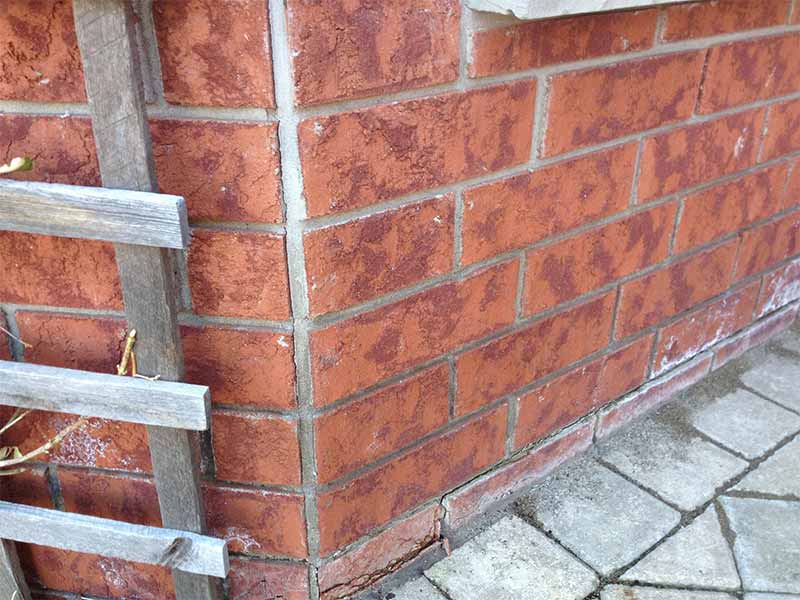 Cold Room Leaks, Side of House Crack and Red Bricks | PH Group Waterproofing Specialists | Barrie Ontario