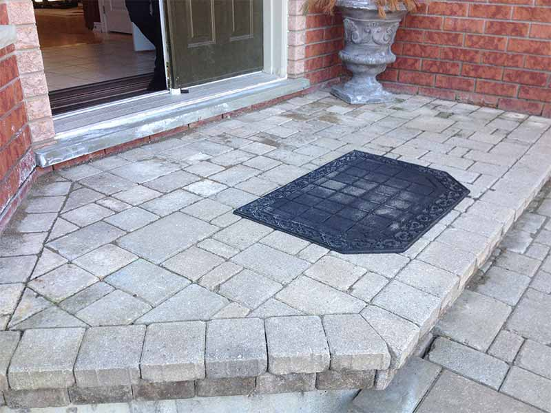 Cold Room Leaks, Entrance patio | PH Group Waterproofing Specialists | Barrie Ontario
