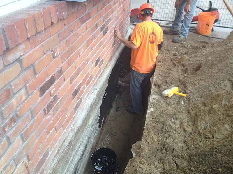 exterior foundation waterproofing in gravenhurst | PH Group Waterproofing Specialists | Barrie Ontario