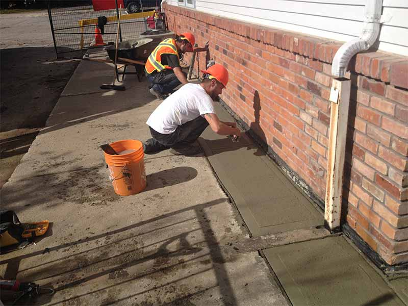 driveway water drainage systems | PH Group Waterproofing Specialists | Barrie Ontario