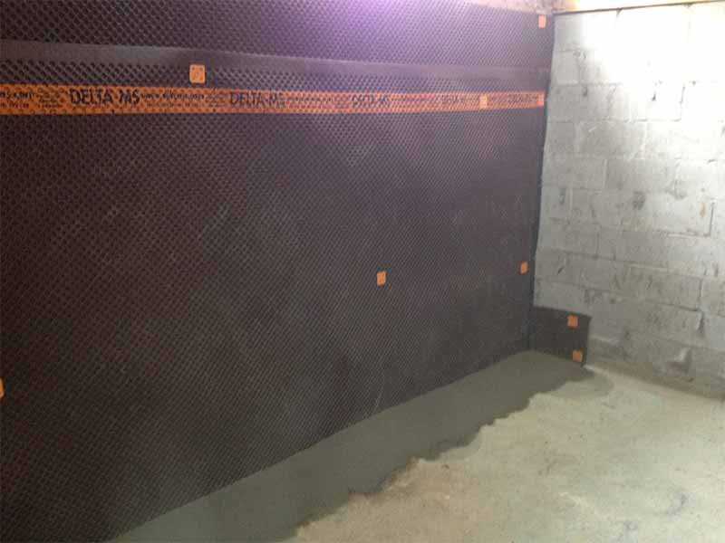 interior weeping tile systems and repairs | PH Group Waterproofing Specialists | Barrie Ontario