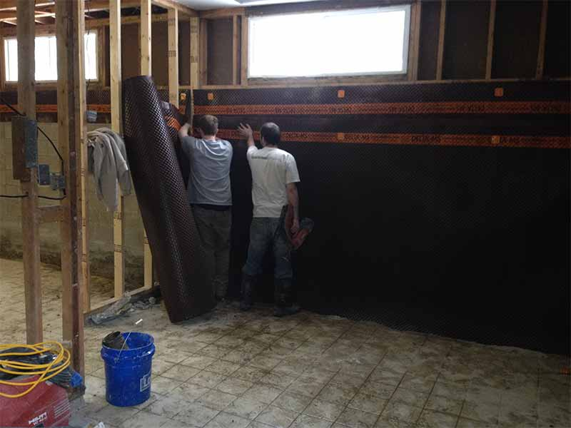 interior weeping tile and foundation waterproofing | PH Group Barrie