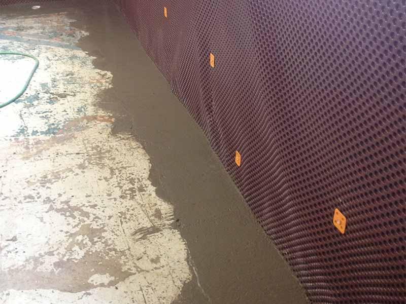interior weeping tile | PH Group Waterproofing Specialists | Barrie Ontario