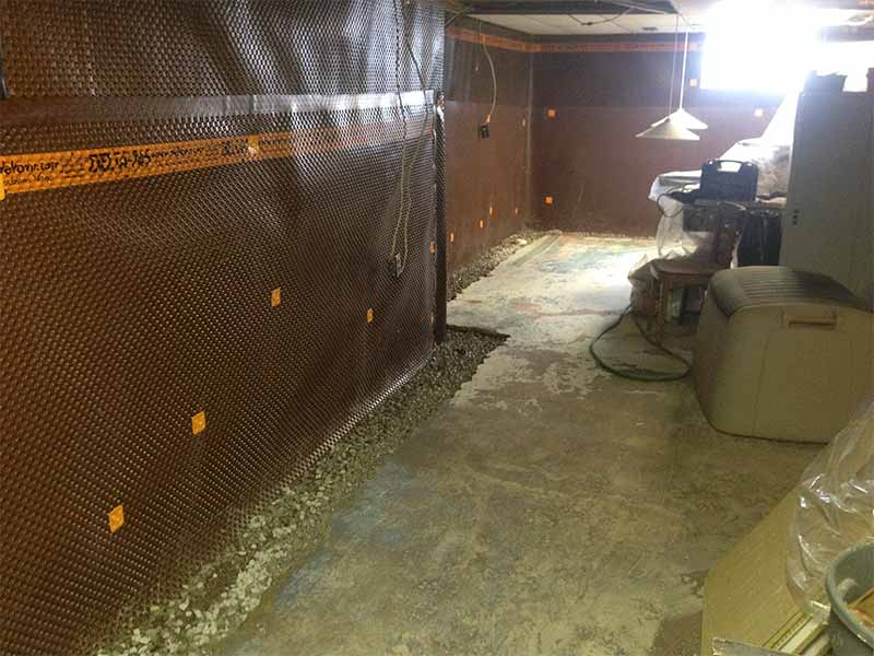 interior weeping tile system | PH Group Waterproofing Specialists | Barrie Ontario