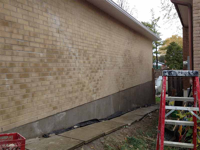 Parging Job | PH Group Waterproofing Specialists | Barrie Ontario