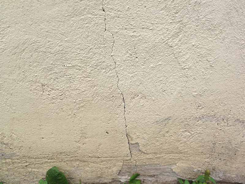 foundation crack injection and parging