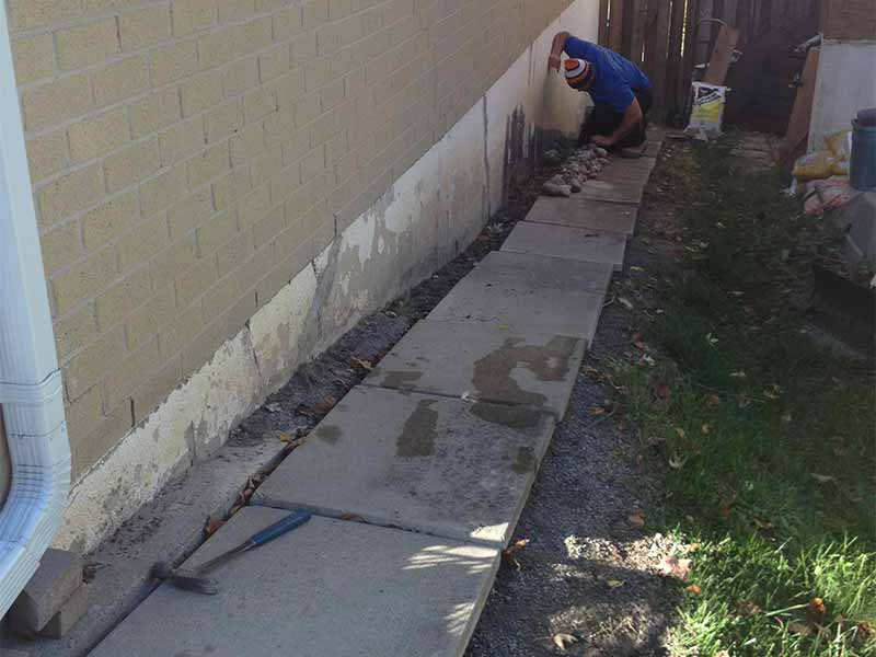 exterior foundation parging | PH Group Barrie Ontario