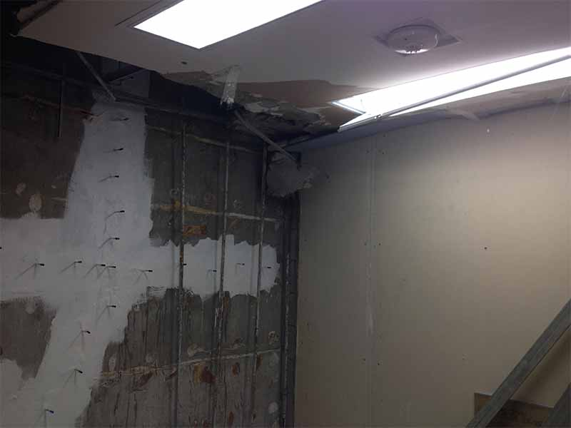 William Osler Hospital basement repair