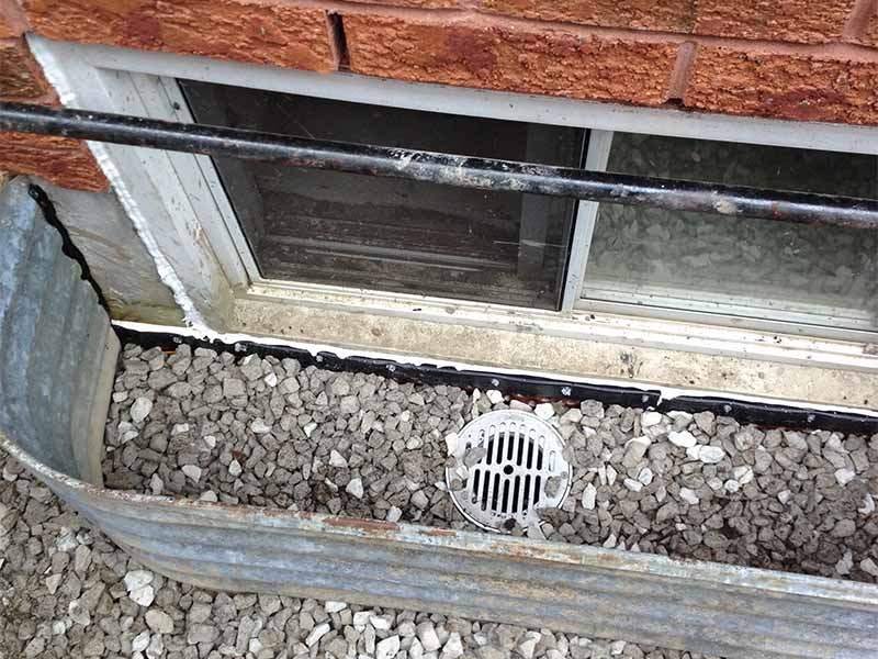 window well drainage repair | PH Group Waterproofing Specialists | Barrie Ontario